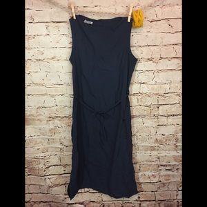 Volcom Dress Sleeveless Casual Cargo Pocket Navy